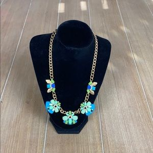 Blue & Green Jeweled J. Crew Necklace